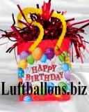Ballongewicht, Geschenktüte, Happy Birthday