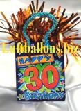 Ballongewicht, Geburtstag Dekoration, Geschenktüte, Happy 30th Birthday