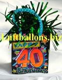 Ballongewicht, Geburtstag Dekoration, Geschenktüte, Happy 40th Birthday