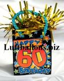 Ballongewicht, Geburtstag Dekoration, Geschenktüte, Happy 60th Birthday
