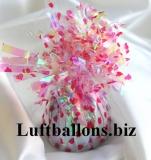 Ballongewicht, Folie, Perlmutt, Herzen, Rot, Gewicht für Luftballons mit Helium