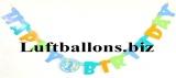 Partydekoration zum 1. Geburtstag, Letter-Banner, 1st Birthday, Blue Balloons