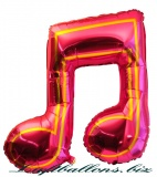 Musik-Doppelnote, Deko-Luftballon aus Folie