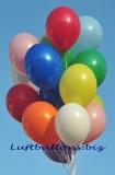 Deko-Luftballons, Standardfarben, Bunt gemischt, 28-30 cm, 100 Stück