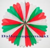 Party- und Festdekoration, Rosette, Grün-Weiß-Rot
