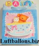 Dekoration zu Geburt und Taufe, Geschenktüte, Baby Girl