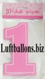 Partydekoration zum 1. Geburtstag, Cutouts mit der Zahl 1, Pink