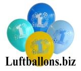 Partydekoration zum 1. Geburtstag, Bunte Luftballons, 1st Birthday, Jungen, 8 Stück