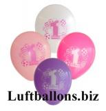 Partydekoration zum 1. Geburtstag, Bunte Luftballons, 1st Birthday, Mädchen