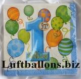 Partydekoration zum 1. Geburtstag, Servietten, Zahl 1