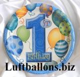 Partydekoration zum 1. Geburtstag, Teller, Zahl 1, 8 Stück