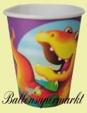 Partybecher Dinosaurier, 8 Stück