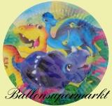 Partyteller Dinosaurier, 8 Stück