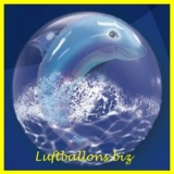 Double-Bubble, Insider PVC-Luftballon, Delfin