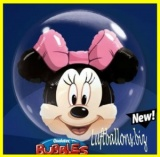 Double-Bubble, Insider PVC-Luftballon, Minnie Mouse, mit Helium-Ballongas