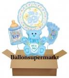 Luftballons zu Geburt und Taufe, It's a Boy, Set 03