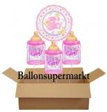 Luftballons zu Geburt und Taufe, It's a Girl, Set 04