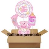 Luftballons zu Geburt und Taufe, It's a Girl, Set 06