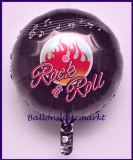 Folienballon, 45 cm, Rock and Roll, 50er Jahre Party, inkl. Helium