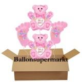 Luftballons zu Geburt und Taufe, It's a Girl, Set 05