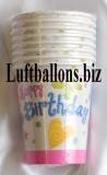 Geburtstag, Tischdekoration, Partybecher Cute Birthday, 8 Stück