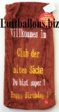 Flaschen Beutel mit Musik, Happy Birthday, Club der alten Säcke