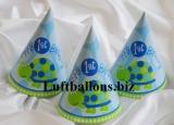 Partydekoration zum 1. Geburtstag, Partyhüte, Schildkröte, 1st Birthday, 8 Stück