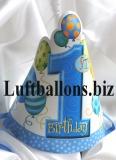 Partydekoration zum 1. Geburtstag, Partyhüte, 1st Birthday, Blau, 8 Stück