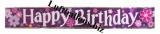 Geburtstag-Dekoration, Riesen-Banner, Happy Birthday, Blossom