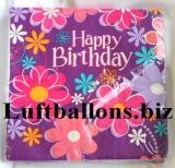 Servietten zum Geburtstag, Papierservietten, Tischdekoration, Happy Birthday, Birthday Blossom