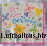 Servietten zum Geburtstag, Papierservietten, Tischdekoration, Happy Birthday, Cute Birthday