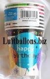 Geburtstag, Tischdekoration, Partybecher Birthday Breezy, 8 Stück