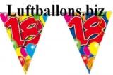 Geburtstag-Dekoration, Wimpelkette, 18. Geburtstag