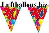 Geburtstag-Dekoration, Wimpelkette, 30. Geburtstag
