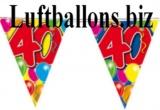 Geburtstag-Dekoration, Wimpelkette, 40. Geburtstag