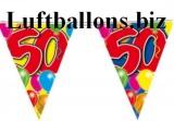Geburtstag-Dekoration, Wimpelkette, 50. Geburtstag