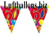 Geburtstag-Dekoration, Wimpelkette, 60. Geburtstag