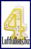 Geburtstag Dekoration, Tortenkerze mit der Zahl 4