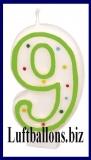 Geburtstag Dekoration, Tortenkerze mit der Zahl 9