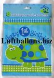 Partydekoration zum 1. Geburtstag, Partytüten, Schildkröte, 1st Birthday, 8 Stück