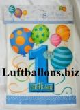 Partydekoration zum 1. Geburtstag, Party-Tüten, Zahl 1, Blau, 8 Stück