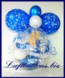 Geschenkballon, Luftballon zum Verpacken von Geschenken, Herzlichen Glückwunsch