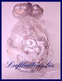 Geschenkballon, Ballon zum Verpacken von Geschenken zur Silbernen Hochzeit