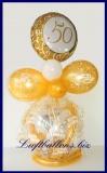 Geschenkballon, Ballon zum Verpacken von Geschenken zum 50. Geburtstag