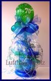 Geschenkballon, Luftballon zum Verpacken von Geschenken zum 70. Geburtstag