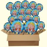 Bob der Baumeister Luftballons mit Helium, Kindergeburtstag Geschenke, 18 Stück