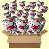 Hello Kitty Luftballons mit Helium, Kindergeburtstag Geschenke, 18 Stück
