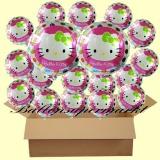Hello Kitty  Rundluftballons mit Helium, Kindergeburtstag Geschenke, 18 Stück