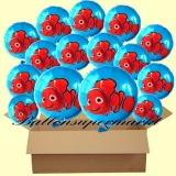 Nemo Rundluftballons mit Helium, Kindergeburtstag Geschenke, 18 Stück