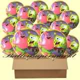 Spongebob Schwammkopf Luftballons mit Helium, Kindergeburtstag Geschenke, 18 Stück
